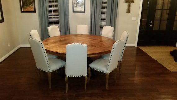 Large Round Dining Table Etsy