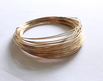 1 Foot - 18 Gauge - 14k Gold Filled Wire - Half Hard Round Wire - Jewelry Wire - Crafting Wire - Bulk Gold Wire - Wholesale - GF HH Wire