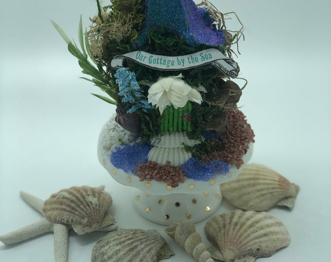 Seaside Cupcake Cottage Fairy House