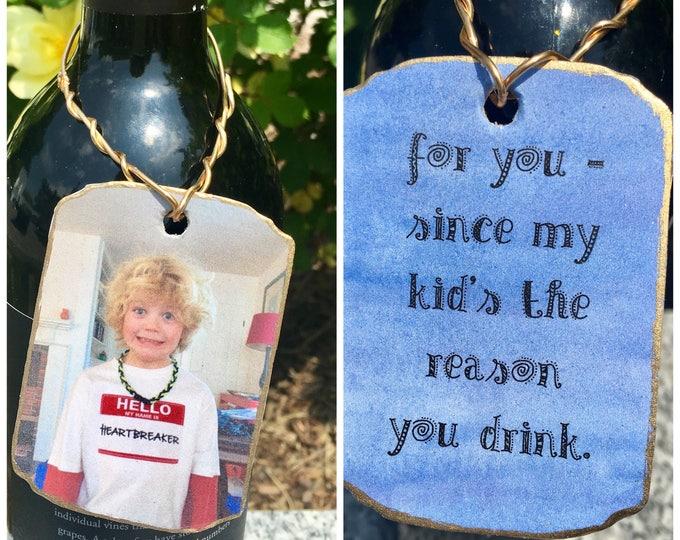 Custom Photo Gift or Wine Tags