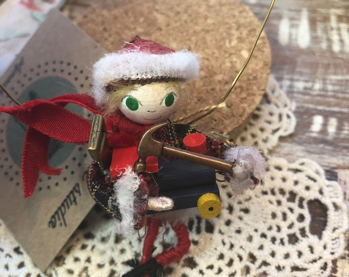 Toymaker Elf (hanging)IN STOCK