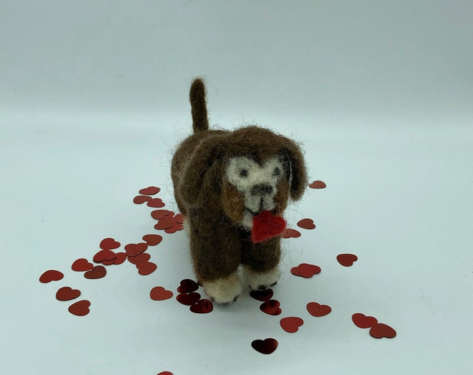 Puppy Love Felted Pooch