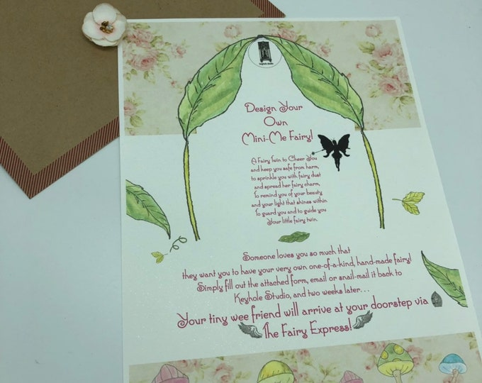 GIFT CERTIFICATE Design Your own Mini-me Fairy! In stock