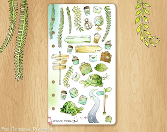 JUNE 17 - Watercolor Stickers For Summer and Travels, Fitting Personal Planners (Kikkik.k, Filofax, etc) : Multiples Travels Illustrations
