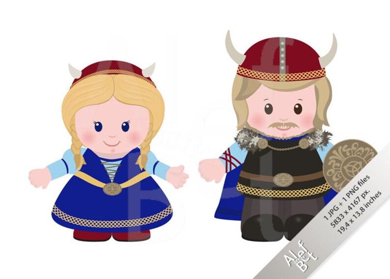 Personaggi dei vichinghi uomo e donna in antico scandinavo etsy