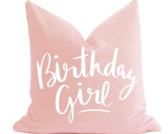 Birthday Girl Pillow Cover