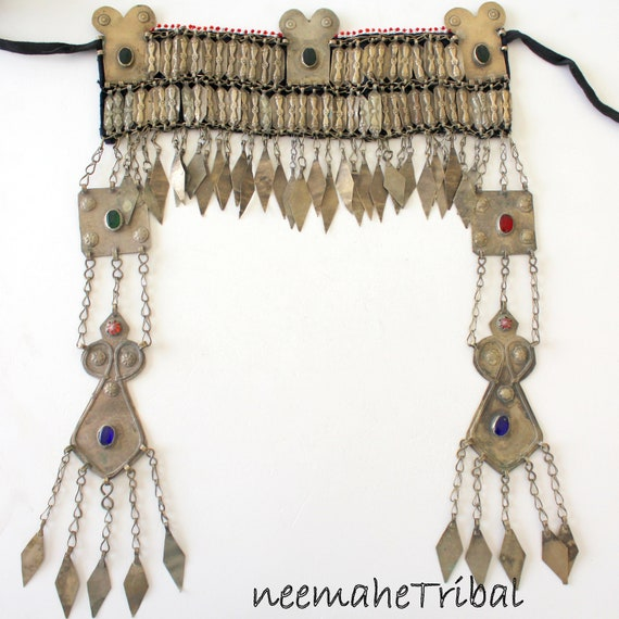 Tribal Headpiece, Vintage Turkmen Headjewelry GAAS