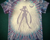 Tie Dye Sailor Moon T-shirt shirt hand made customizable FREE SHIPPING Tye die Tie Dyed