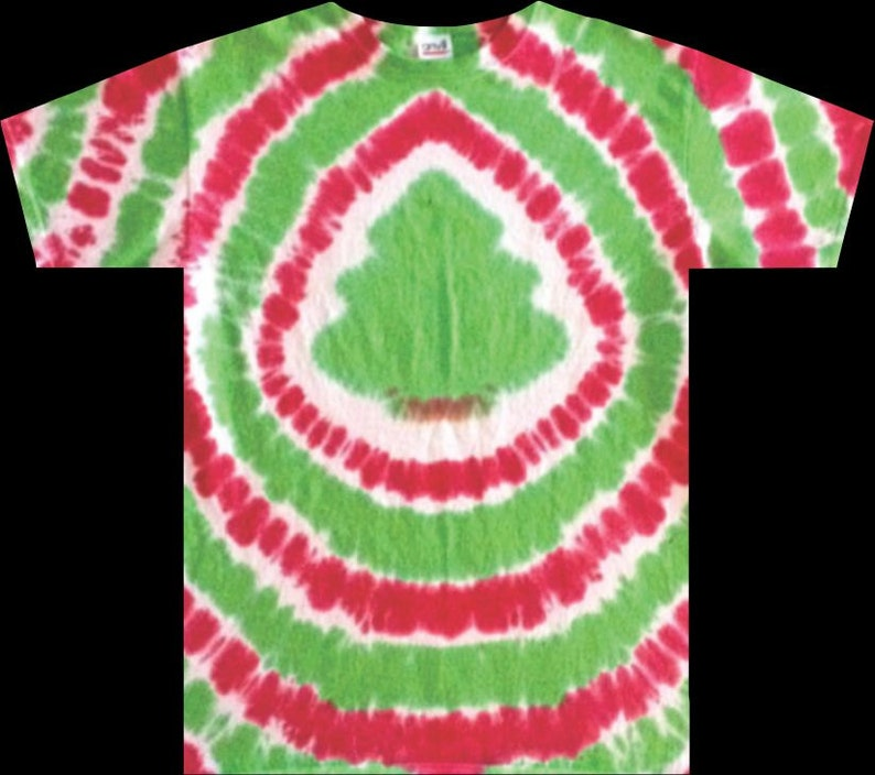 1af316aa8941c Tie Dye Christmas Tree T-shirt shirt hand made Any Size - FREE SHIPPING Tye  die Tie Dyed