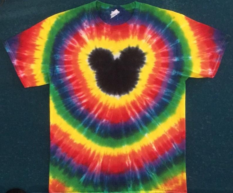 cc4bb5cbd6205 Tie Dye Mickey Ears T-shirt shirt hand made customizable FREE SHIPPING Tye  die Tie Dyed