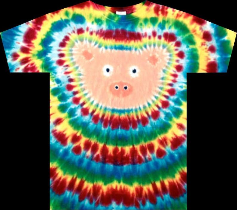 9381acf22f905 Tie Dye Pig Hog T-shirt shirt hand made customizable FREE SHIPPING Tye die  Tie Dyed
