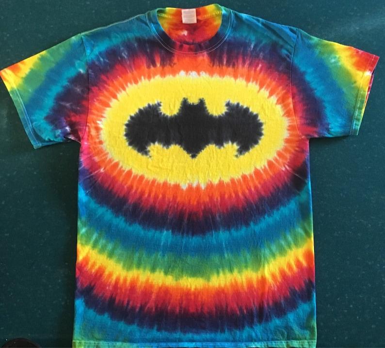 bada6d7a04bdc Tie Dye Batman Super Hero T-shirt shirt hand made customizable FREE  SHIPPING Tye die Tie Dyed