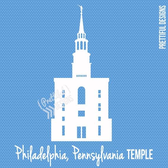 Philadelphia Pennsylvania Temple LDS Mormon Clip Art png eps | Etsy