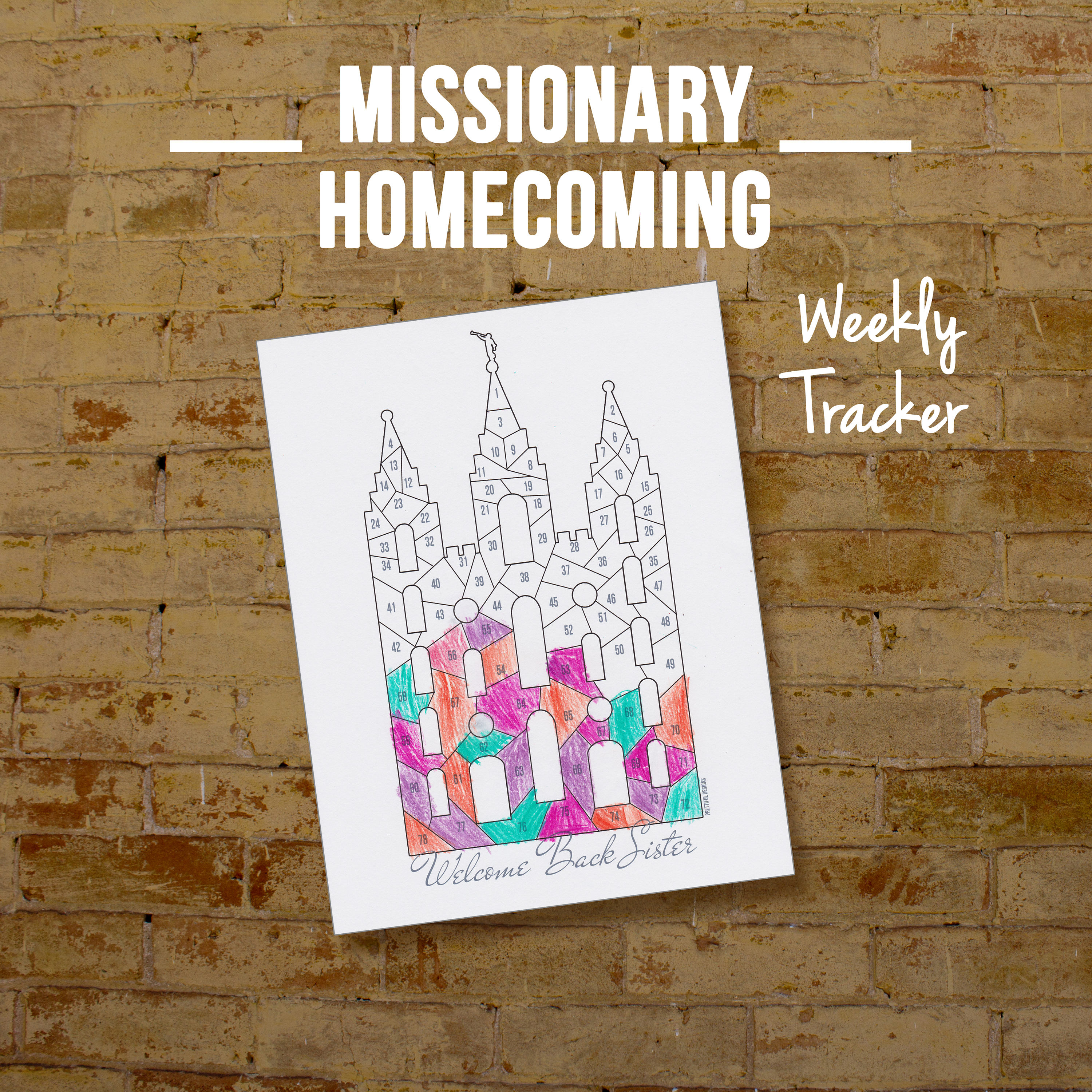 Sister Missionary Homecoming Countdown Printable Coloring Page | Etsy