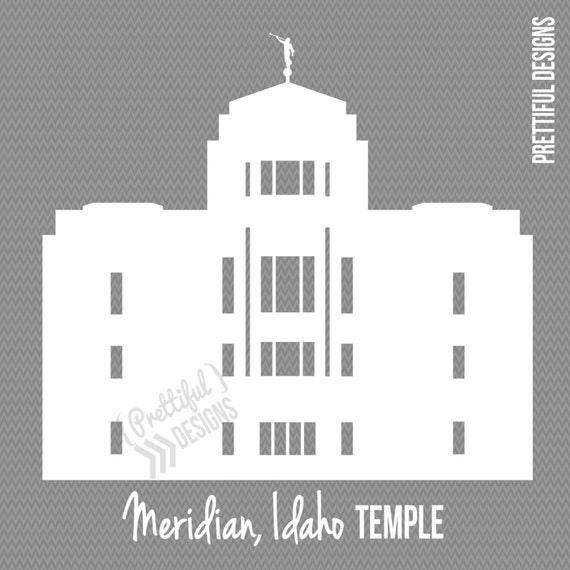 Meridian Idaho Temple Silhouette LDS Mormon Clip Art png eps | Etsy