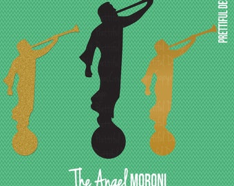 Angel Moroni LDS Mormon Clip Art