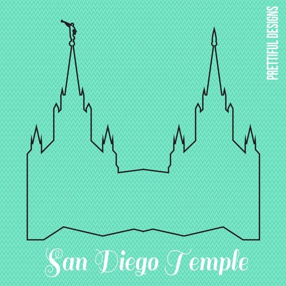 Artículos similares a San Diego California Templo SUD Mormón Clip ...