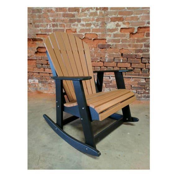 Bascule bicolore de la chaise adirondack fabriqu partir de etsy - Chaise adirondack france ...
