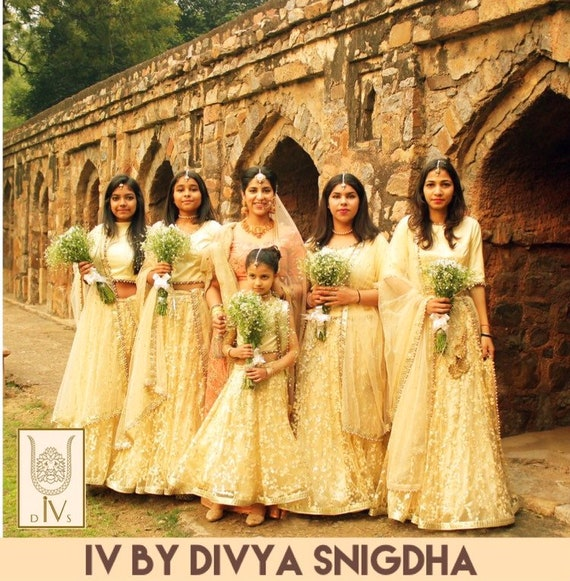 Bridesmaids Champagne gold Indian
