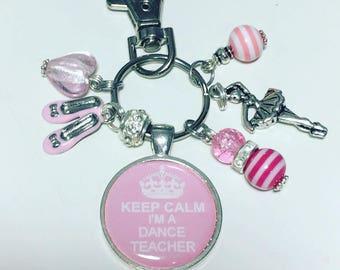 Dance teacher gift, dance teacher keyring, dance teacher keychain, dancer gift,