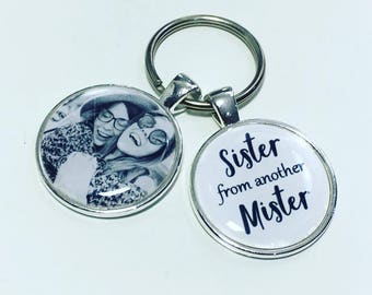 Sister from another Mister personalised photo keyring, Step Sister keyring, gift for Half sister, Half sister keyring, Sister gift