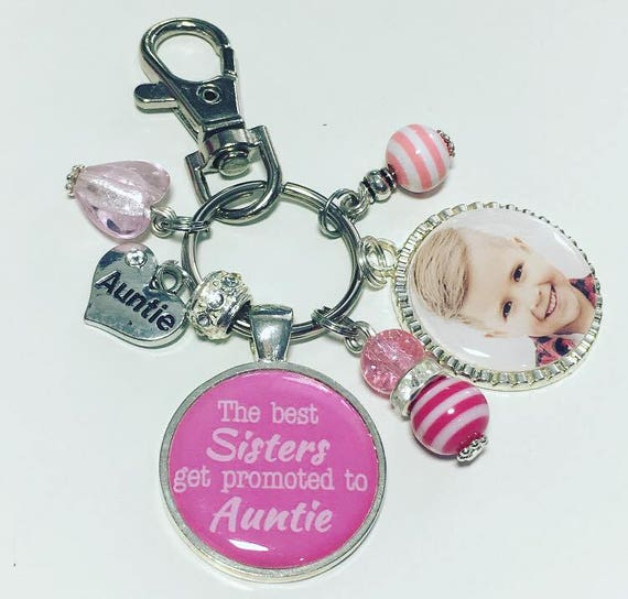 Auntie photo keyring Auntie photo keychain The best Sisters  83c6b37b635c