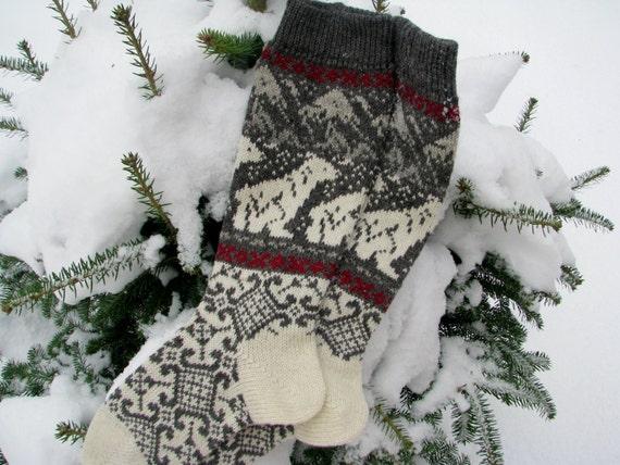 Socken gestrickte Socken stricken Socken Wolle lange Socken   Etsy
