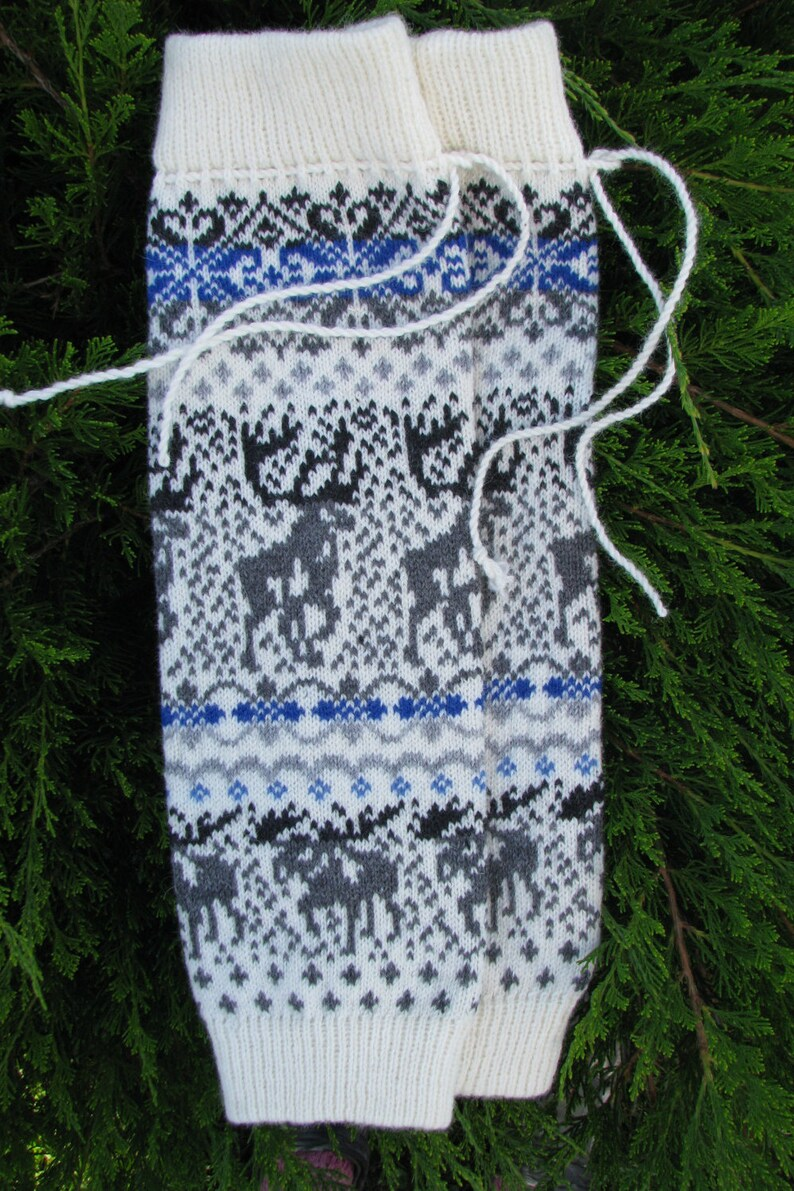 Wool Leg Warmers Knit leg warmers wool socks boot cuffs Norwegian Christmas socks knit socks  leggings baby girl thigh high socks