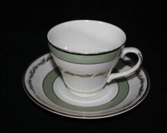 Tea Cup and Saucer Greenwood