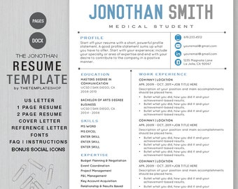 Resume Template CV For Word