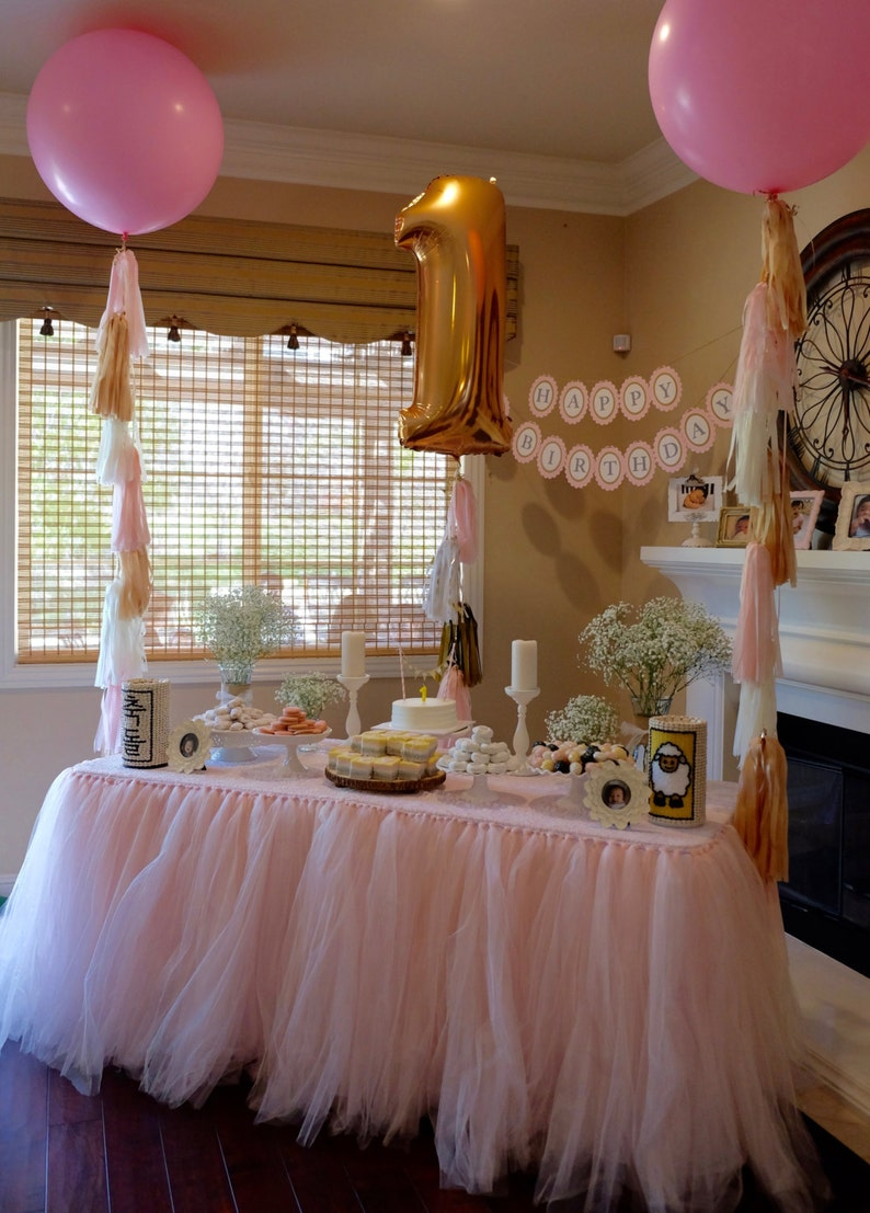 1st Birthday Balloon Set Giant 36 Inch Tassels