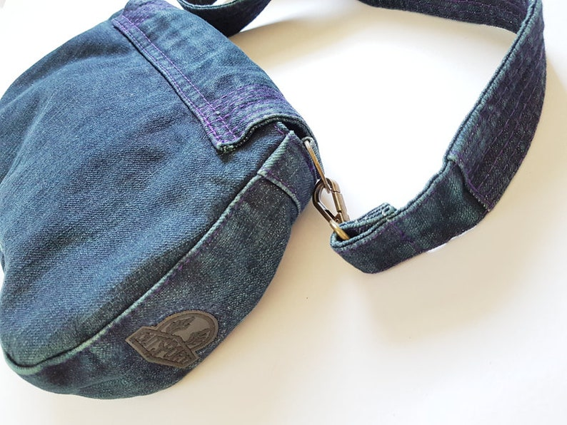 Crossbody jean bag boho bag jeans strap shoulder denim bag school travel weekend gym yoga bag blue backpack simple everyday basic