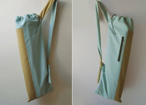 fc2641167f0d Yoga mat bag Pilates bag Waterproof mint Canvas Yellow yoga