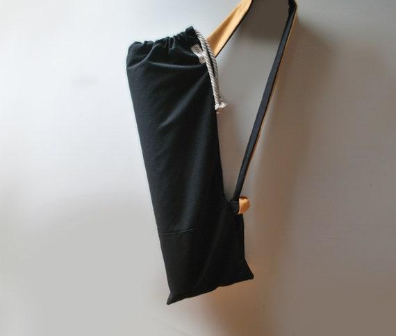 ba2aac67dcc7 Unisex yoga mat bag Pilates mat bag Waterproof Black yellow