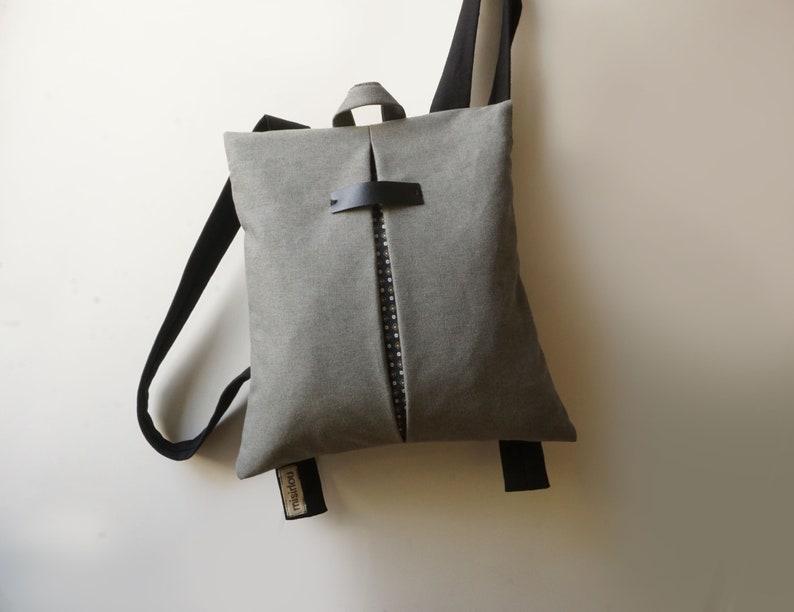 Convertible city backpack Crossbody bag Waterproof canvas bag  4e7b14b8c1cf8
