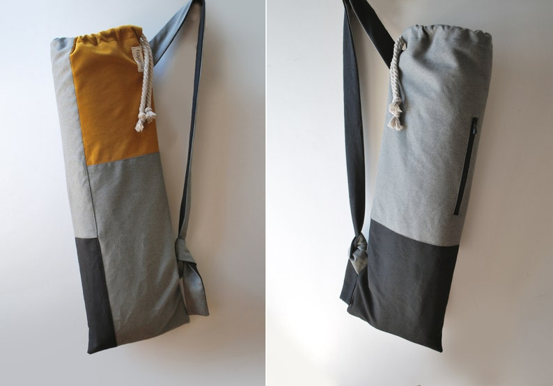 e2b7ac227e5b Yoga mat bag Minimal pilates mat bag Canvas velvet bag Black gray mustard  yellow... Yoga mat bag Minimal pilates mat bag Canvas velvet bag Black gray  ...