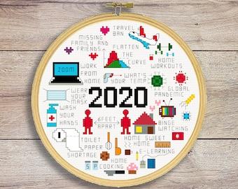 2020 Memories Cross Stitch Pattern   2020 Quotes Cross Stitch Pattern   2020 Summary   2020 Rewind
