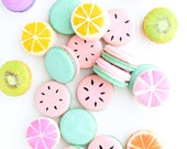 Watermelon Macarons, One In A Melon Macarons, French Macarons, Fruit Macarons, Custom Macarons, Orange Macarons, Lemon Macarons, Macaroons