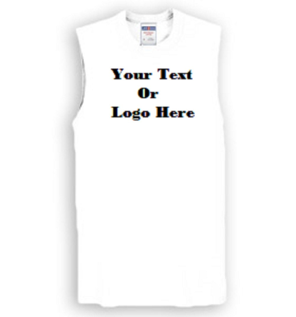 Custom Personalized Design Your Own Sleeveless Tee Etsy