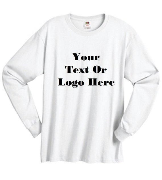 8159462523f Custom Personalized Design Your Own Long-sleeve T-shirt