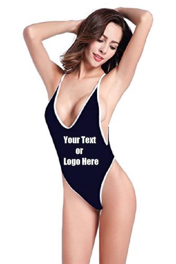 8b76270b3a Custom Personalized Designed Women s High Cut One Piece