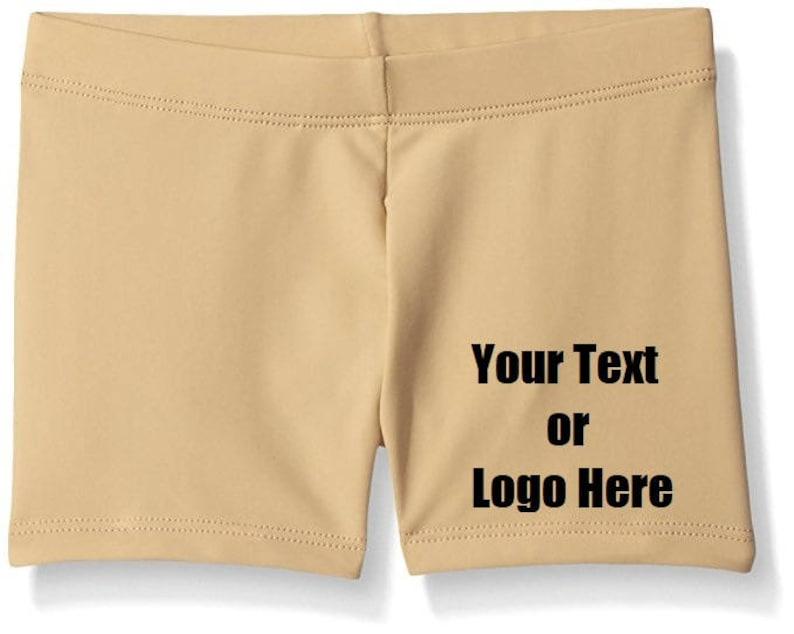 Custom Personalized Designed Girl/'s Dance Gymnastic Shorts