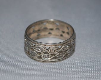 Sterling silver band ring size 7.5