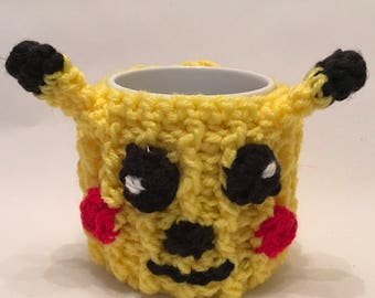 POKEMON - hand crochet mug cosy with mug