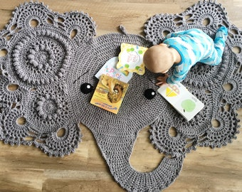 Josefina and Jeffery Elephant Blanket PDF Crochet Pattern | 270x340