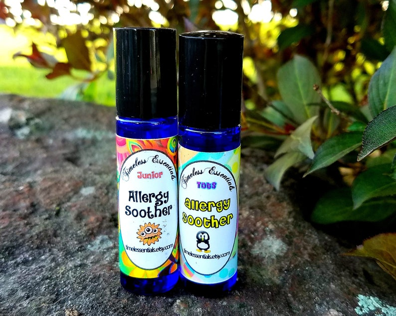 Allergy Soother for Kids 2 to 12 - Allergy Relief, Sneezing, Stuffy Nose,  Runny Nose, Itchy Eyes, Homeopathic, All Natural, Essential Oils