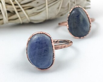 Sapphire Ring | September Birthstone | Electroformed Jewelry | Stone Ring | Made to Order | Crystal Ring | Birthstone Ring