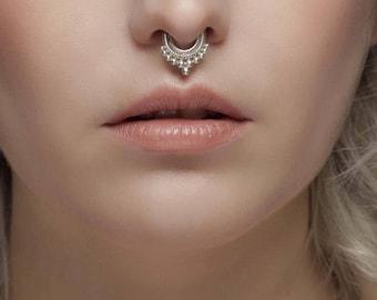 Silver rajasthan Septum, Septum piercing, indian Septum ring, septum jewelry, nose ring septum, nose piercing