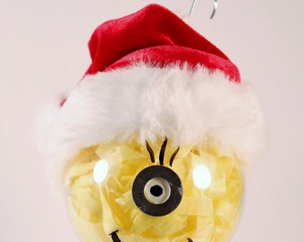 minion christmas ornament hand painted - Minion Christmas Ornament