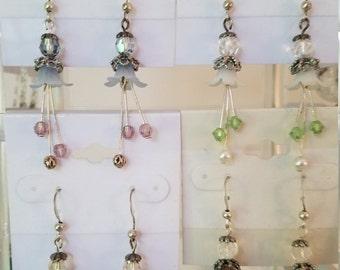 Lucite blossom earrings